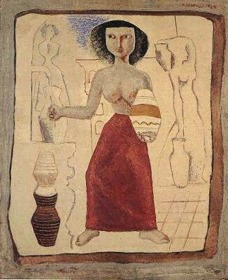 Donna alla fontana 1929 CAMPIGLI