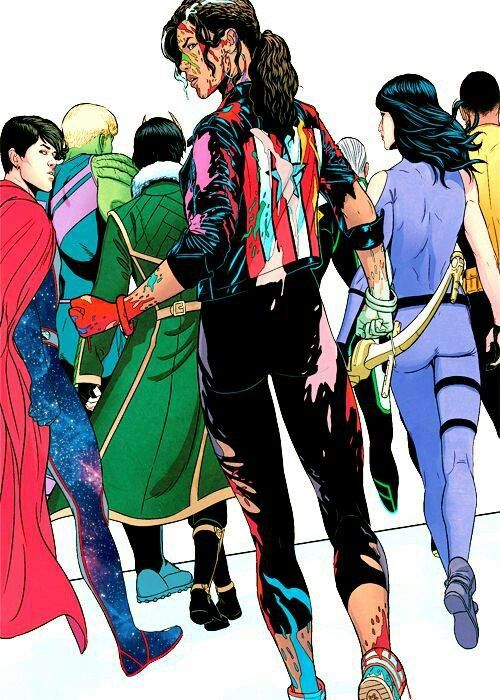 YOUNG AVENGERS #13 •Jamie McKelvie  i remember when America was rainbow!  (oh how weird that sentence must look/sound to people who aren't Marvel or Young Avengers fans...)