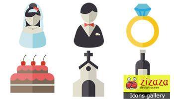 #Freebies #Icon set - Wedding - Zizaza item for