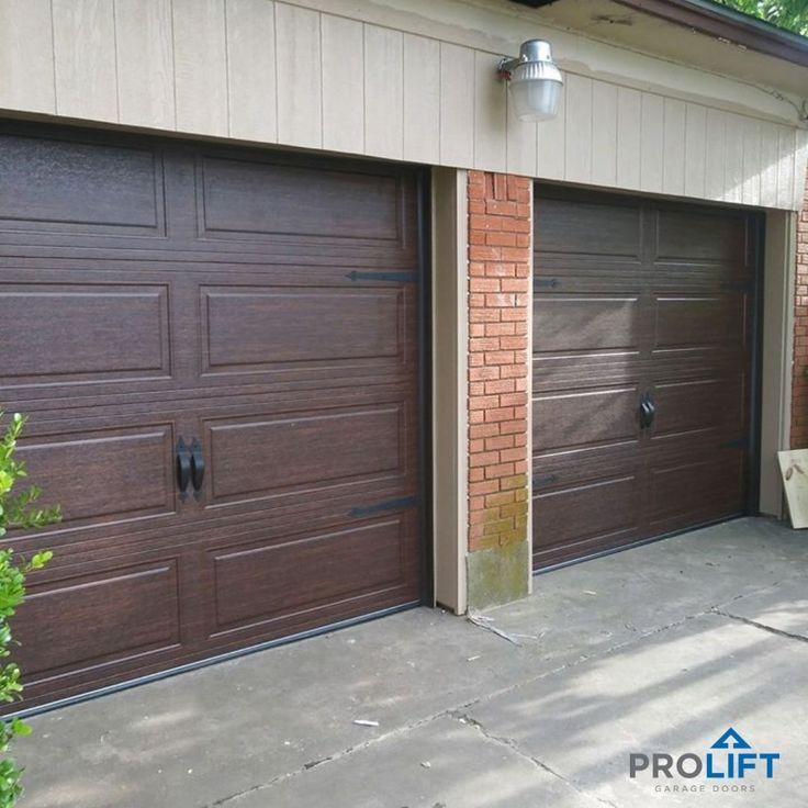 Steel Garage Doors In Walnut Finish Garage Doors Doors Wood Garage Doors