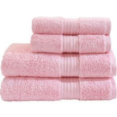 each girl wearing a pink towel (or white if it's easier)