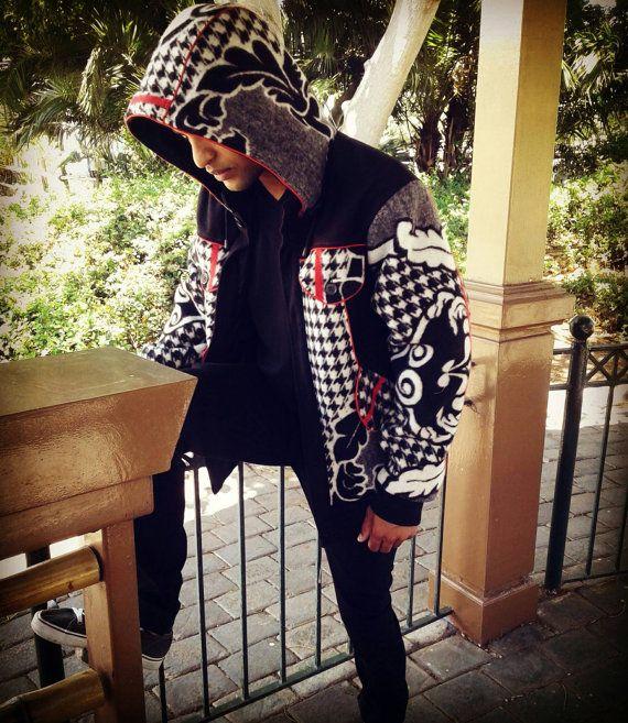 Shinobi Hooded Jacket Made From Basotho Blanket by AngeliqueDemont