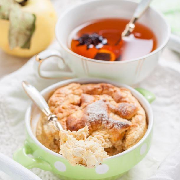 Clafoutis facile aux pomme et raisins