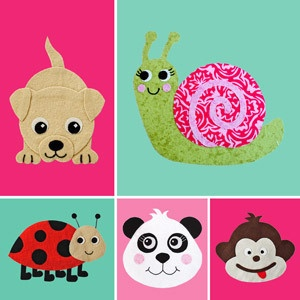 Download Cute Critters Applique Patterns Sewing Pattern | FREE PATTERN CLUB | YouCanMakeThis.com