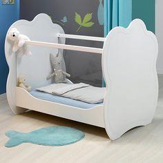 Cloud Lit pour bébé blanc aux côtés en plexiglas