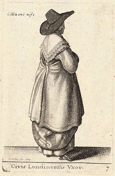 Artist  Wenceslaus Hollar (1607–1677) Link back to Creator infobox template wikidata:Q448555 Title Civis Londinensis Vxor. Date Unknown date (author lived 1607-1677) Dimensions 9 x 7 cm. Current location  Thomas Fisher Rare Book Library Link back to Institution infobox template wikidata:Q7789602 Wenceslas Hollar Digital Collection Accession number Plate number: P1894.