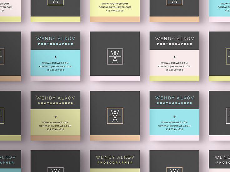 Square Stylish - Business Card 82