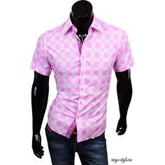 Рубашка Louis Fabel приталенная цвет розовый в клетку