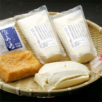 一響屋/おぼろと厚揚げ豆腐のセット 宝島の塩付 2783yen 塩で楽しむ美味しいお豆腐のセット