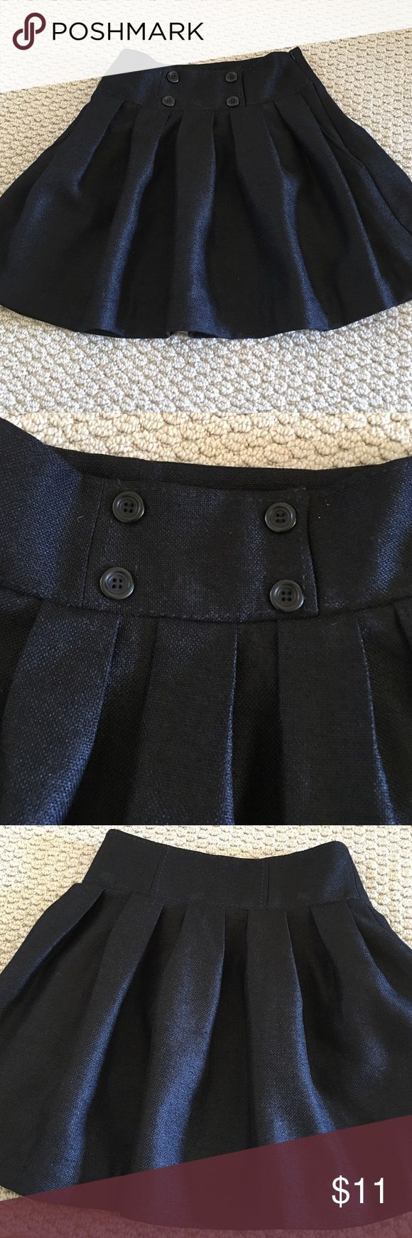 """BCBGeneration Skirt Black pleated skirt with side pockets.  Dressing up with heels or casual look with flats.  Normal wear and tear.  16 1/2"""" length. BCBGeneration Skirts Mini"""