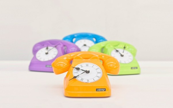 Phone table clock Summer '12 by useDesign $180