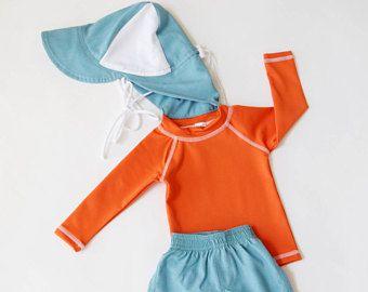 Baby Rash Guard, Toddler Rashguard, Toddler Swimsuit, Baby Swimsuit, Toddler Swimwear, Kids Swim Shirt, Sun Hat