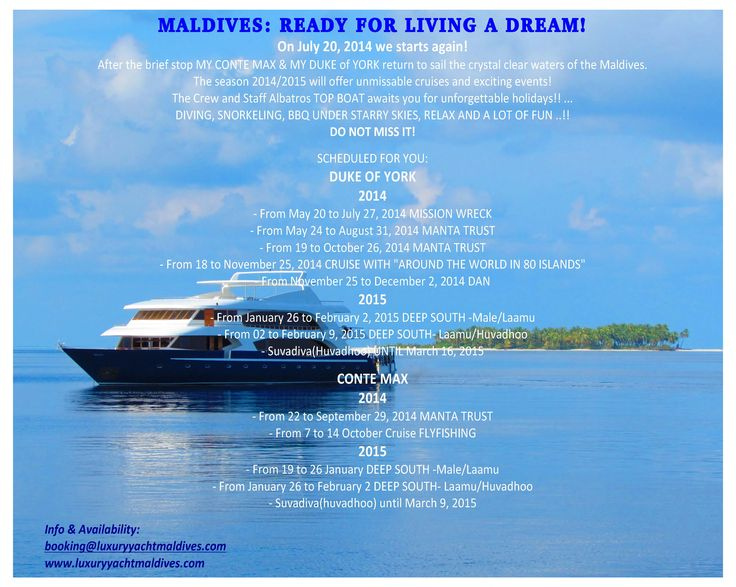 MALDIVES: READY FOR LIVING A DREAM!
