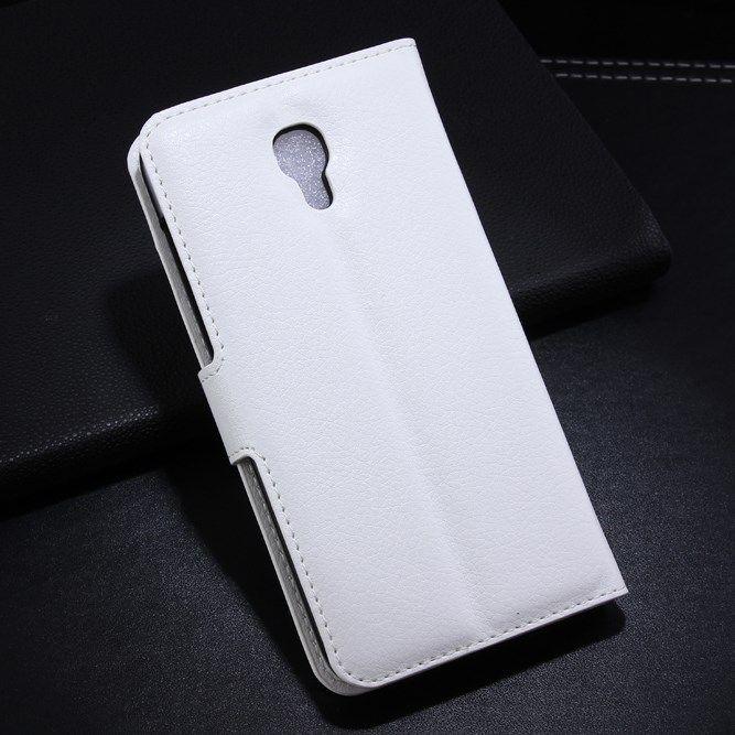 Alcatel One Touch Idol 2 S (OT-6050Y) Wallet Stand Hoesje Wit  Bescherm je Alcatel One Touch Idol 2 S (OT-6050Y) per direct tegen het vallen stoten vuil en krassen met dit leuk Wallet Hoesje. Dit hoesje kan je altijd overal gemakkelijk terugvinden dankzij de opvallende kleuren waarin dit hoesje verkrijgbaar is en natuurlijk ook in de gewone neutrale kleuren. Pasjes en geld altijd bij de hand dankzij de handige vakjes hiervoor. Je telefoon in het hoesje zetten is zo gedaan maar nog sneller en…