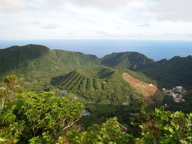 isla volcánica de Aogashima, Japón