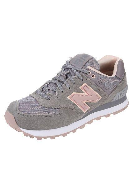 new balance gris con rosado