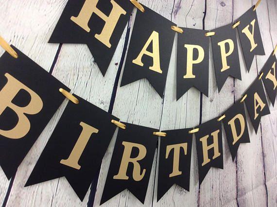 Diy Happy Birthday Banner Pinterest