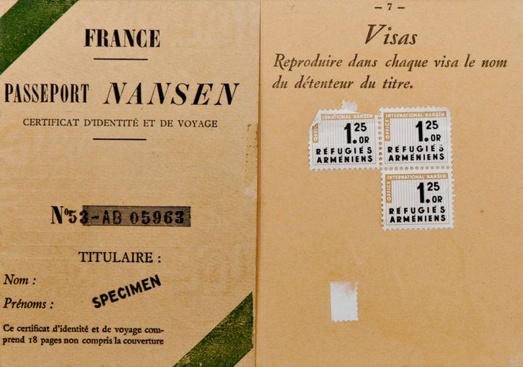 "The Little-Known Passport That Protected 450,000 Refugees Between 1922 and 1938, the ""Nansen Passport"" allowed stateless people to make a new life."