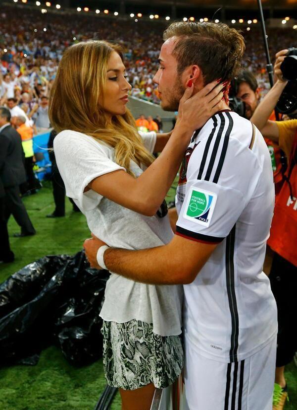 Mario Gotzes girlfriend Ann Kathrin Brommel bags plenty of attention after WC final winning goal