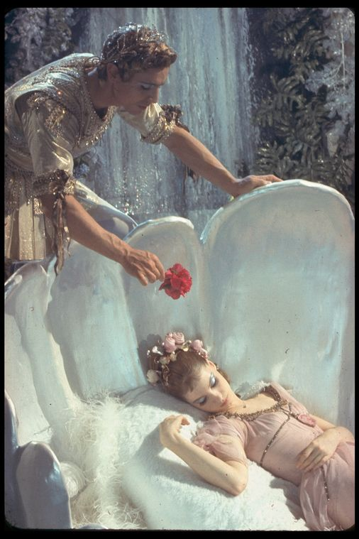 "New York City Ballet production of the movie version of ""A Midsummer Night's Dream"" with Suzanne Farrell as Titania and Edward Villella as Oberon, choreography by George Balanchine (New York)"