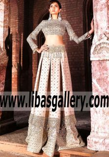 You will never imagine how charming and beautiful this #Farazmanan #Empire wedding dress is! The embroidery and embellishments decoration is delicate. #Lehenga Try this one. Pakistan Lehenga Choli vendor near you who can find or create that perfect Eastern Bridal Wear for your wedding. #PakistaniWedding #WeddingDresses #WeddingLehenga #DesignerLehenga #BridalLehenga #freeshipping #onlinestore #UK #USA #Canada #Australia #France #Germany #SaudiArabia #Dubai #UAE