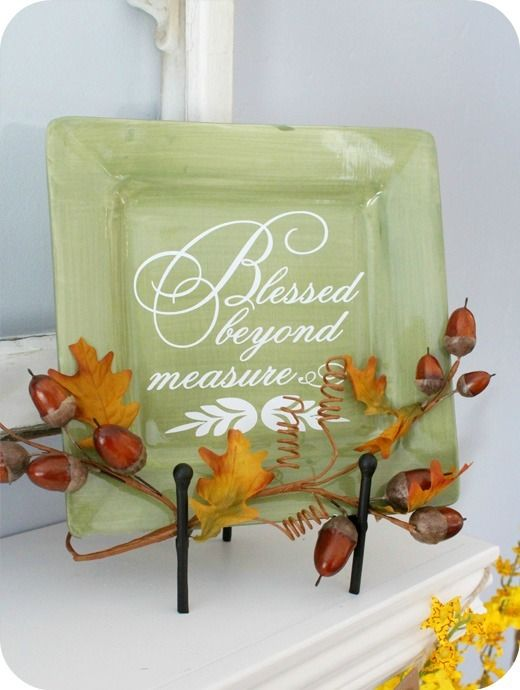 Thanksgiving Decals for Your Craft Projects