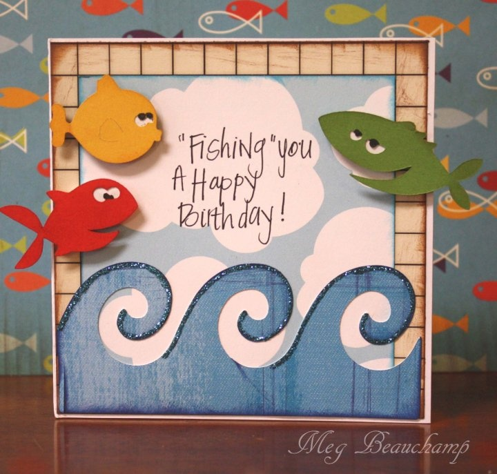 182 best images about fish fish cards on pinterest for Fishing birthday cards