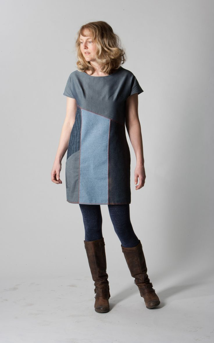 Denim Tunic Dress Pattern - Learn how to make a summer dress DIY that is as adorable as it is fun to sew.