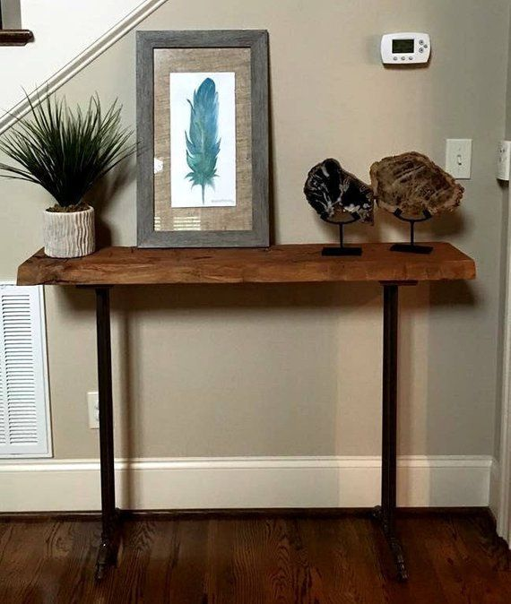 Narrow Console Table Reclaimed Wood Table Accent Table Long