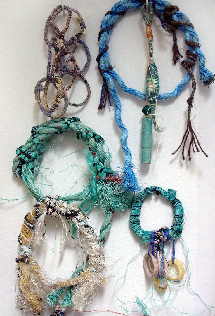 Caroline Sax Textile experiments utilising found objects