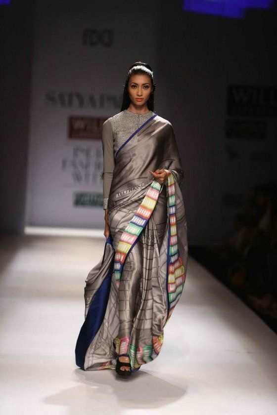 I am sorry I doubted you Masaba : Masaba Satya Paul Collection    designer saree
