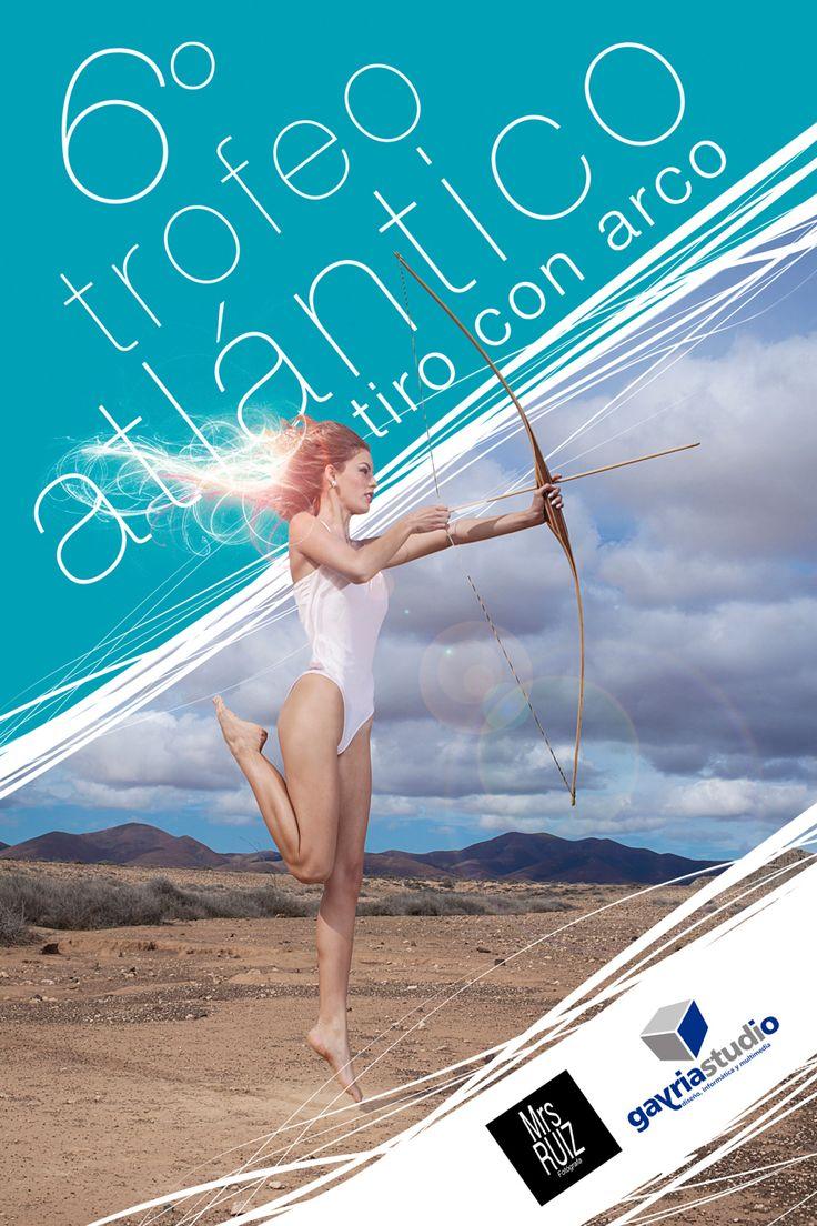 Cartel 6º Trofeo Atlántico de tiro con arco. Fotografía de Marisa Ruiz Cartel rechazado por los organizadores.