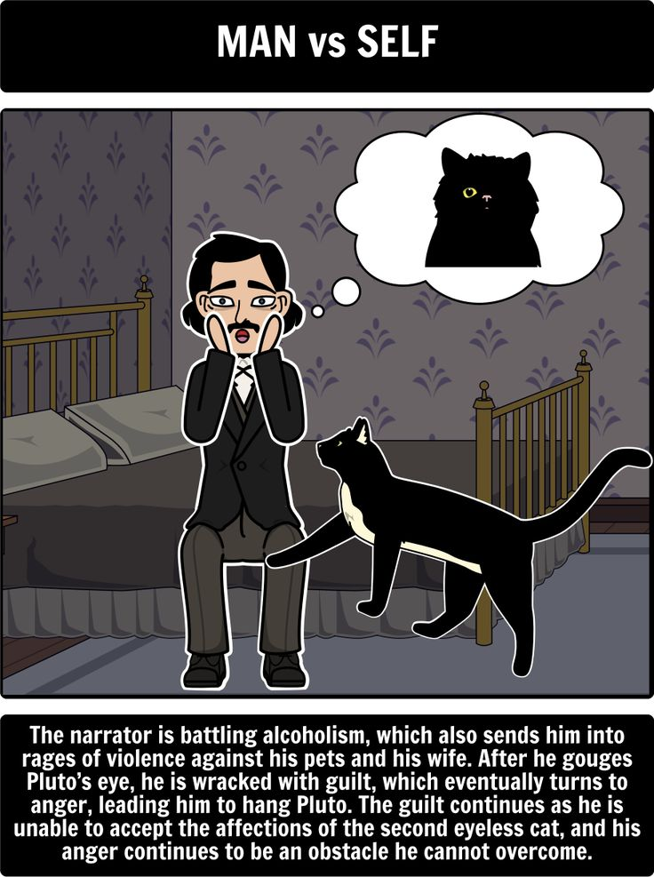 """an analysis of the black cat a short story by edgar allan poe Edgar allan poe's """"the black cat"""" delivers all of the spooky elements that make a  terrifying and haunting tale this particular dark short story combines fear and."""