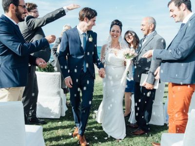A Simply Stunning Real Wedding: Pegah and Lucas Tie the Knot in Crete!