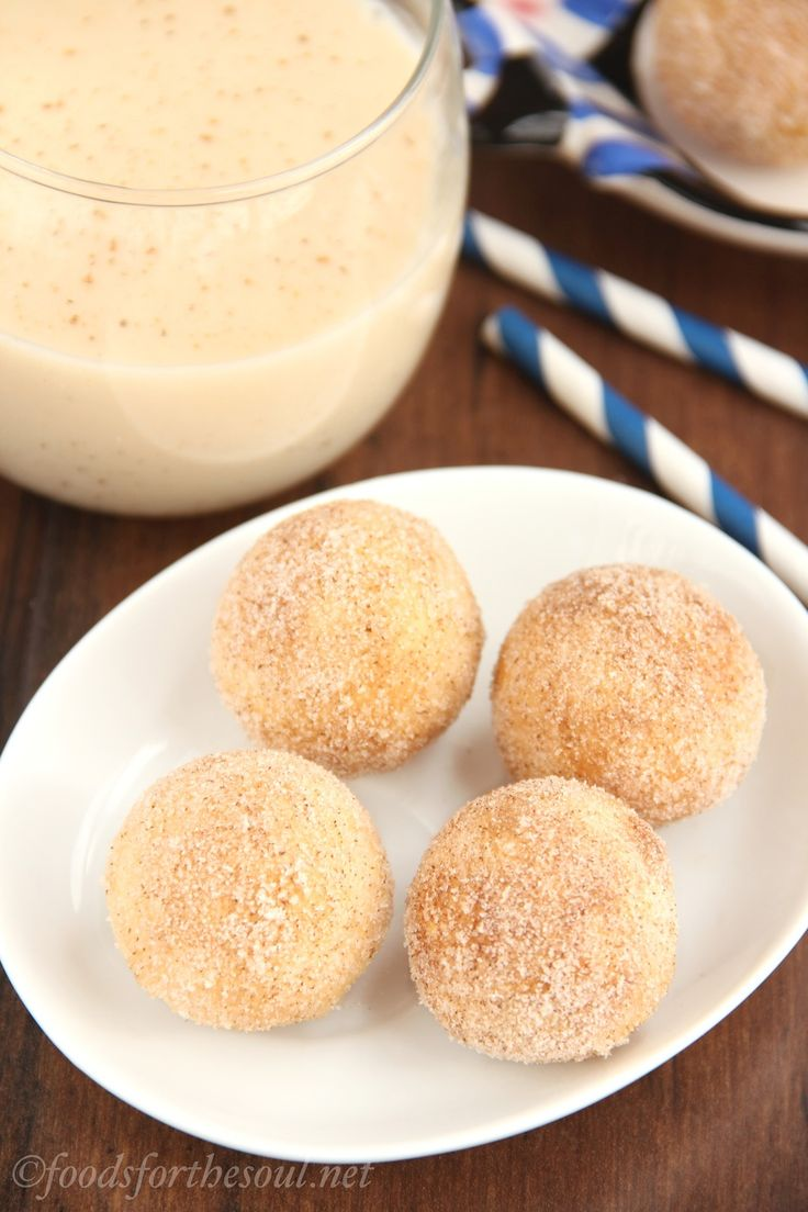 Skinny Eggnog Donut Holes -- only 41 calories each!Eggnog Donuts ...