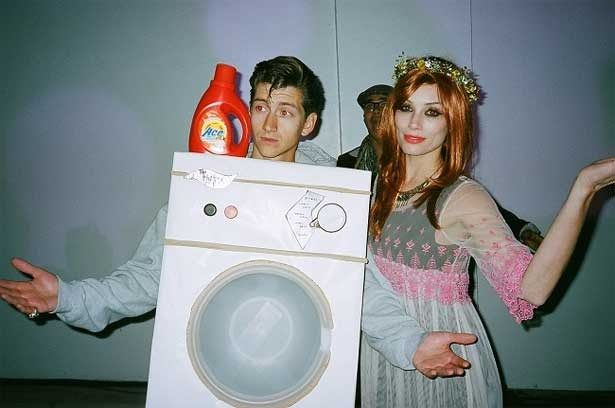 Alex Turner and Arielle Vandenberg Florence and the Machine Halloween Costume .