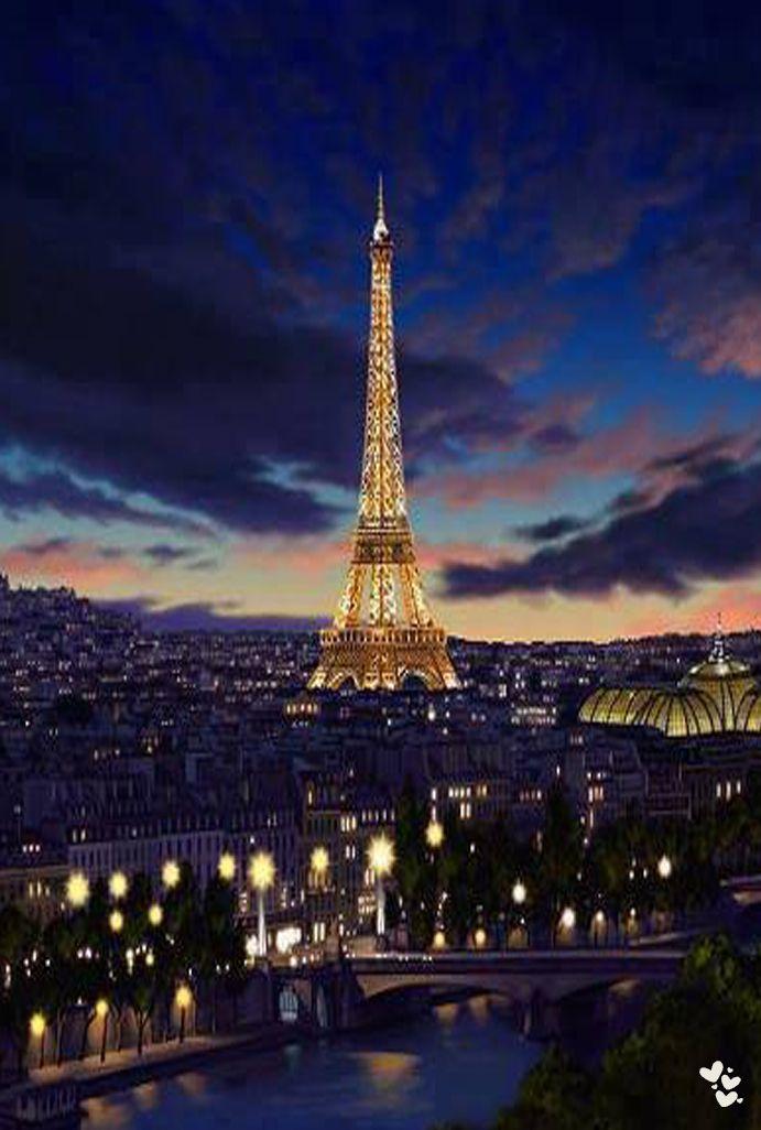 París al estilo de la torre Eiffel.