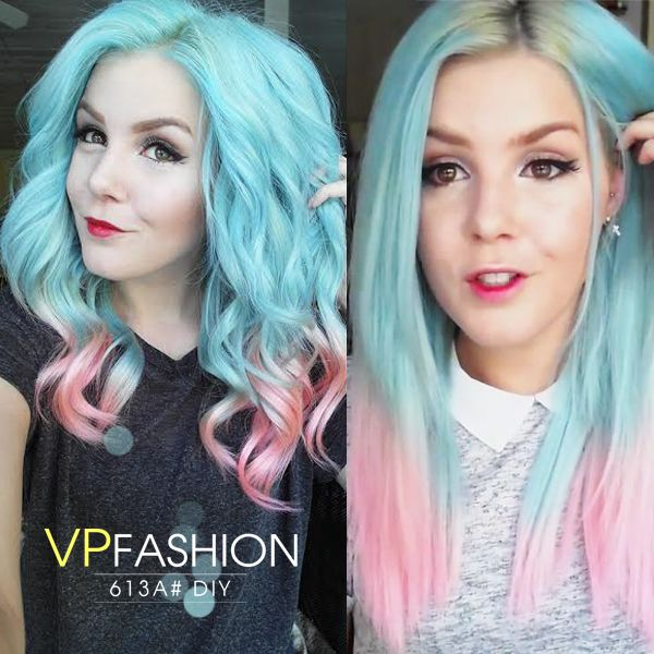 Cotton Candy Blue Hair: Cotton Candy Blue-pink
