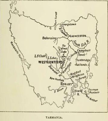Map of Tasmania - c1820