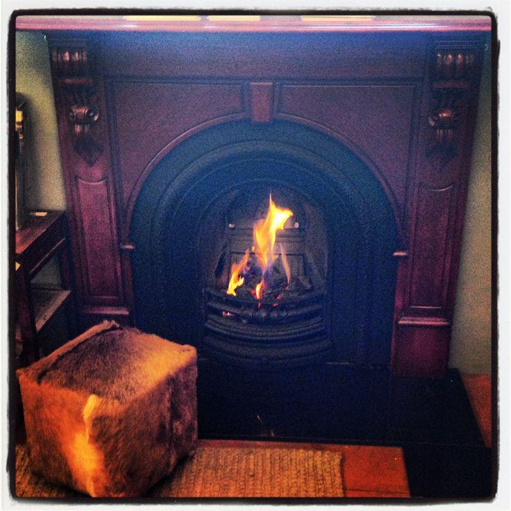 Get the look with products from Schots Home Emporium: https://www.schots.com.au/evandale-timber-mantle-assembled-cognac-kaisuev1635c.html https://www.schots.com.au/lux-premium-cast-iron-insert-cover-black-kai83inluxbl.html