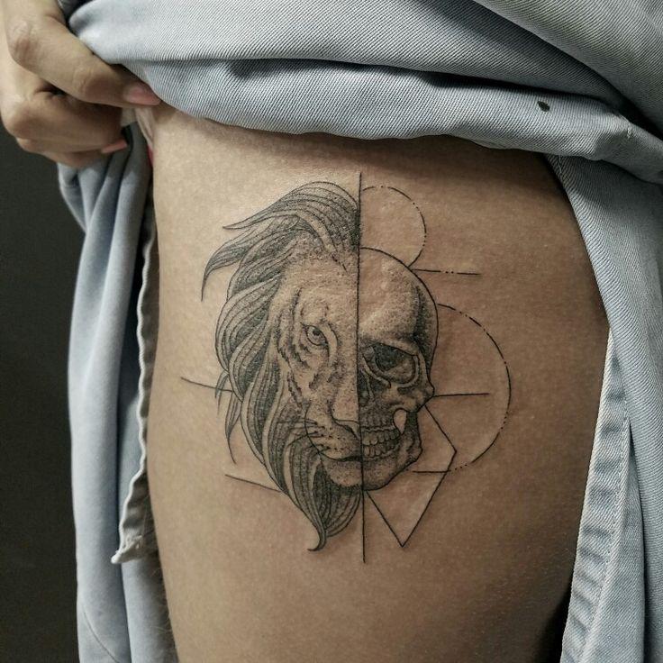 Tattoo puntillismo por Dani Mejía citas 3007982365 pereira colombia
