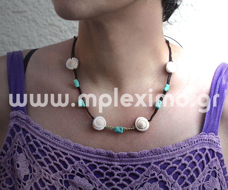 macrame shells necklace