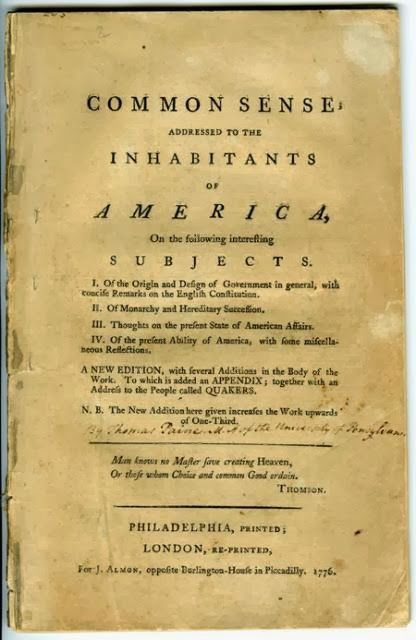 "Awakenings: Common Sense | This Day in History: January 10, 1776 - ""Common Sense"" by Thomas Paine, published ... The highlight of Paine's pamphlet Common Sense is the remarkable role it played in transforming a colonial squabble into the American Revolution."