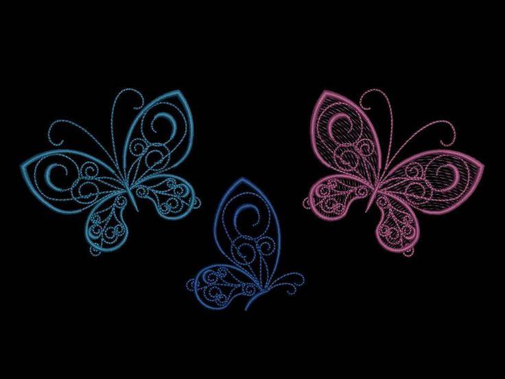 Бабочки, бесплатный дизайн машинной вышивки