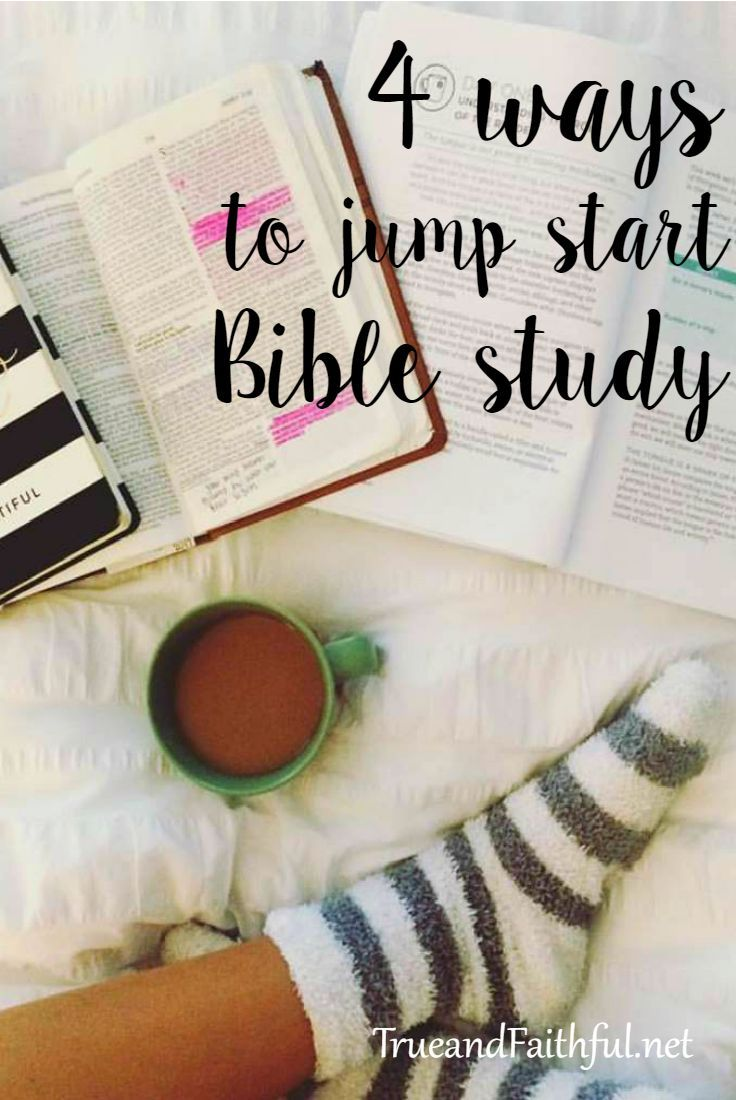 Want to jump start your Bible study? 4 favorite ways with links and resources. studying tips, study tips #study #college