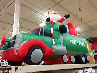 9 ft santa on a truck airblown christmas inflatable yard