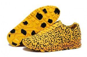 Vendita ingrosso scarpe da ginnastica nike air max 90 leopardate uomo gialle nere prezzi stracciati
