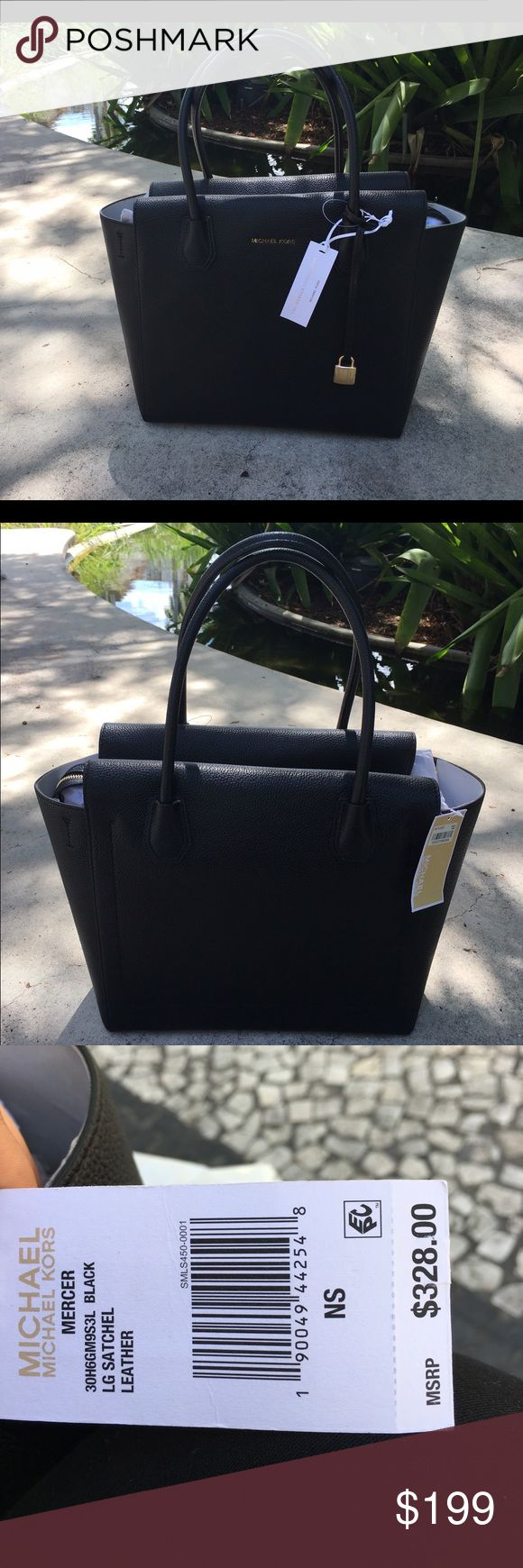 Michael Kors Handbag BLACK handbag Michael kors (LG Satchel Leather)  👜👜👜 Michael Kors Bags Satchels