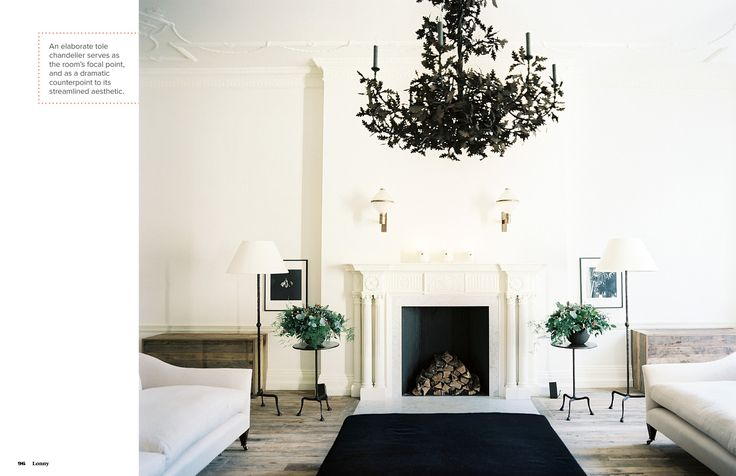 Love the living room. awesome chandelier. March 2013 - Lonny Magazine - Lonny
