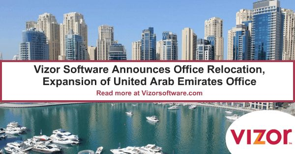 Vizor Software Announces Office Relocation, Expansion Leading regulatory software provider, Vizor Software, announces plans to move it's UAE office to a new, larger location in the Dubai Multi Commodities Centre (DMCC) JLT Free Zone http://www.prweb.com/releases/2016/04/prweb13372278.htm